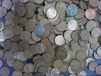 LINCOLN WHEAT CENT PENNY LOT 500  mixed dates//mints OF TEENS 20/% MINTMARKED