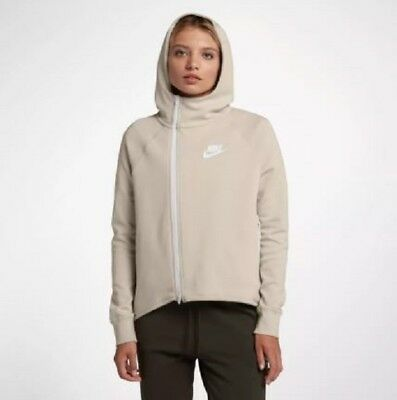 NIKE SPORTSWEAR TECH Fleece Full Zip Cape Women's Size Med 930757 008 Loose Fit