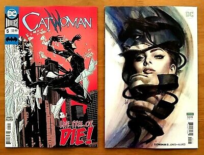 Catwoman 5 2018 Joelle Jones Main Cover + Stanley Artgerm Lau Variant Cover  NM