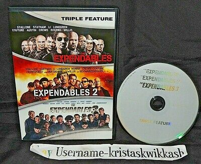 The Expendables: 3-Film Collection (DVD, 2016) VERY GOOD