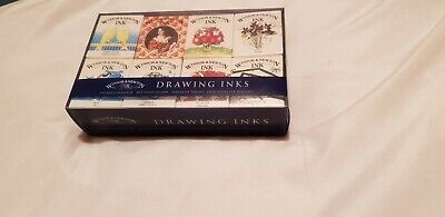 Winsor & Newton Drawing Ink William Collection Set of 8 x 14 ml Ink Bottles Inks