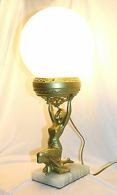 Art Deco Egyptian Revival Figurine Lamp - 1920's