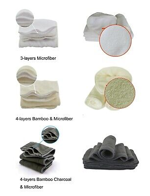 Bamboo Charcoal & Bamboo Fiber Insert Changing Pad For Pocket Baby Cloth Diapers