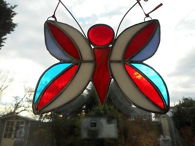 Stained Glass Butterfly Suncatcher or Wall Mount.
