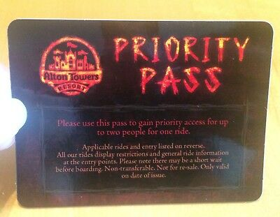Alton Towers WICKER MAN Priority Pass Fasttrack Skip the Line Valid for 2 people
