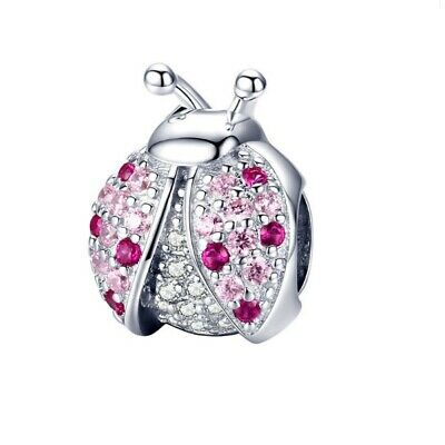 New Sparkling Ladybird for Charm Bracelet Necklace Authentic 925 Sterling Silver
