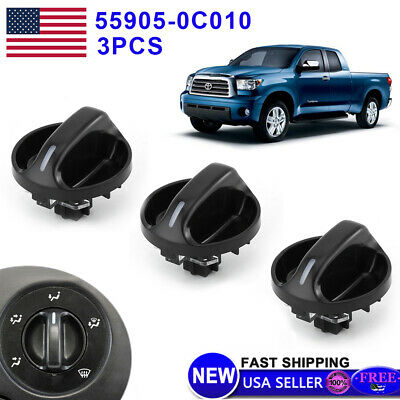 3 Pack Quality AC Climate Control Knob Replace For Toyota Tundra 55905-0C010 Pow
