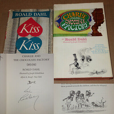 HAND SIGNED Charlie and the Chocolate Factory (1964) DAHL 1ST EDITION + more