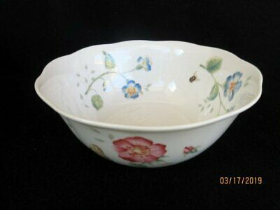 """Lenox Butterfly Meadow 7"""" All Purpose Bowl Scalloped Floral Butterflies"""