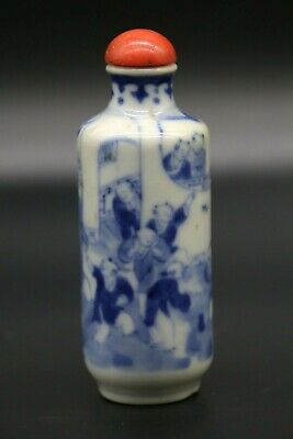 Ancienne Tabatiere En Porcelaine De Chine Antique Chinese Snuff Bottle Kangxi