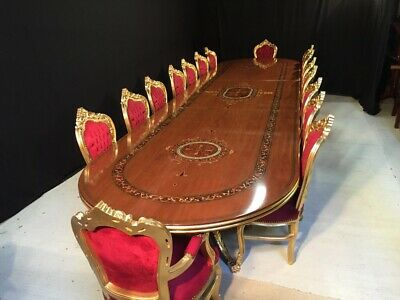 World class magnificent Palace style dining table set range, 8ft to 20ft plus