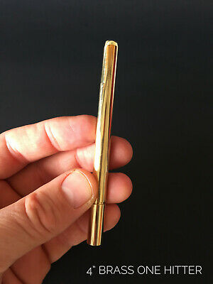 "4"" Brass One Hitter Pipe- Straight One Hitter"