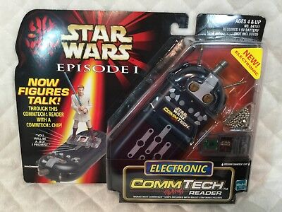 New Hasbro Star Wars Episode 1 1998 Collection Commtech Electronic Reader