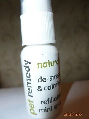 Pet Remedy Natural De-Stress & Calming Refillable Mini Spray 15Ml.