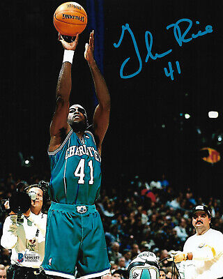 c4130fc768f Glen Rice Signed 8x10 Photo Beckett Authenticated COA Charlotte Hornets NBA