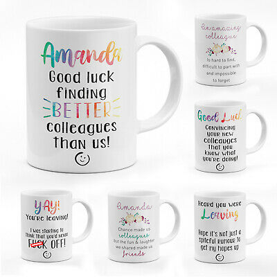 New Job Colleague Leaving Printed Mug - Office Tea Coffee Personalised Gift Work
