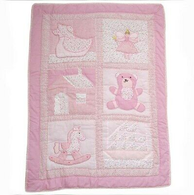 Powell Craft Colcha Cuna Rosa