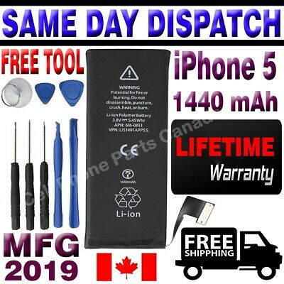 Brand NEW Orignal OEM Replacement iPhone 5 Battery 1440 mAh With Free Tools