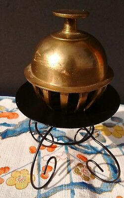 Vintage Brass Tibetan Buddhist Temple Claw Bell Made In India In Great Condition
