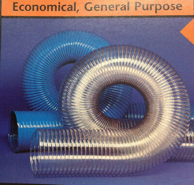 Sold by The Foot 3-1//2/'/'ID 333 BLOWER HOSE CLEAR POLYETHYLENE WITH WHITE HELIX