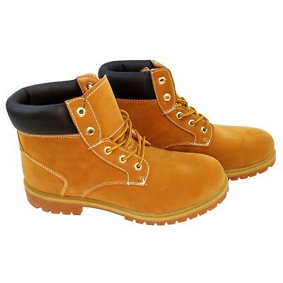 NYC Tough Boot Company Men's Vegan Leather Water Resistant Work Boot