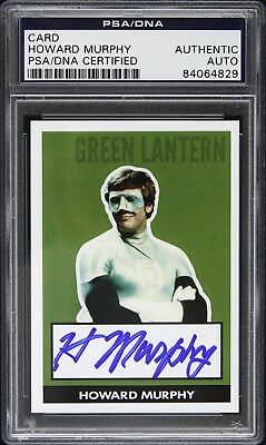 1979 Howard Murphy Green Lantern Signed Trading Card (PSA/DNA Slabbed)