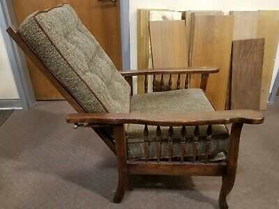 Antique Morris Mission/Craftsman Reclining Chair (Easy Assembly & Storage)