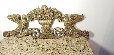 "24"" Victorian Art  Cast Iron Birds Grapes Architectural Wall Decor"