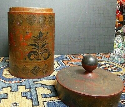 Late 18th Century Russian Khokhloma Hohloma Wooden Hand Painted Museum Quality