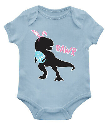 1caa8fa8 Dinosaur Rawr Easter Egg Hunt Dino T-Rex Holiday April Infant Toddler  Bodysuit