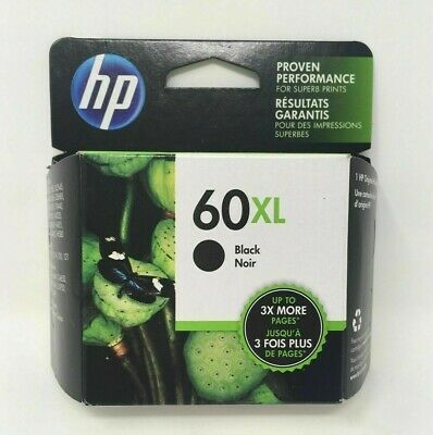 GENUINE HP62 XL Black Ink Jet Printer Cartridge Toner HP 62 62XL HP62XL 10/2020