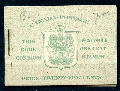 Weeda Canada BK32e VF booklet with Type II English covers, 7c & 5c rates CV $70+
