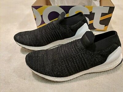 New Adidas Ultraboost Laceless Men S Core Black White Bb6140 Size 12