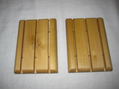 Popular Wood Handcrafted Soap Savers / Soap Deck/Soap Dish Lot of 2