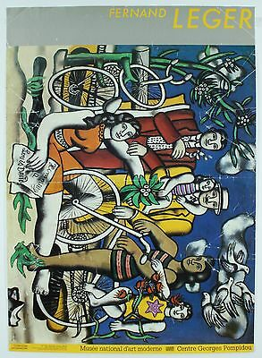Vintage Fernand Leger Les Loisirs Hommage a David French Modern 1987 Art Poster