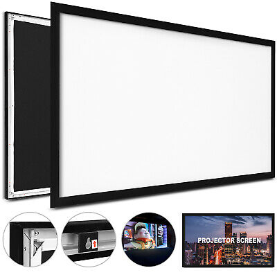 """125""""16:9 Fixed Frame Projector Screen HD 4K Home Theatre 3D BE HIGHLY PRAISED"""
