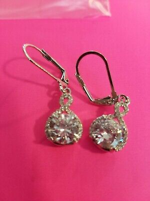 336bee9dd3d0c WHITE GOLD INFINITY Crystal Drop Earrings Made With Swarovski ...