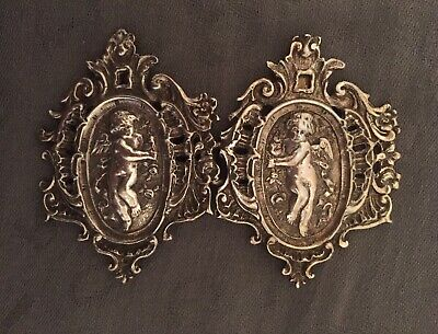 Antique Sterling Silver Buckle With Cherubs