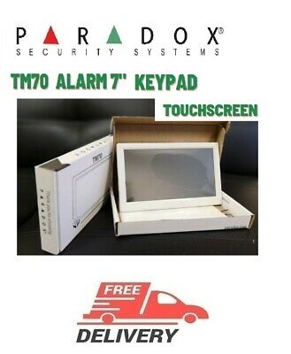 "Paradox Security TM70  Alarm 7"" keypad new touchscreen security systems original"