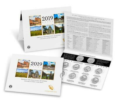 America the Beautiful Quarters 2019 Uncirculated Coin Set P&D