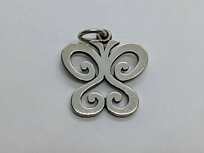 RETIRED James Avery Sterling Silver 3/4 Inch Spring Butterfly Charm UNCUT RING