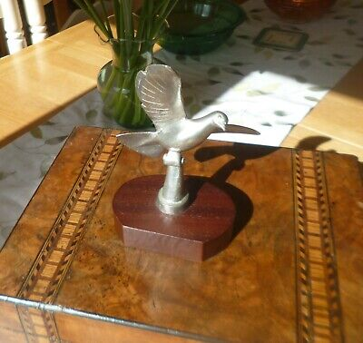 Stunning Retro Solid Pewter Pigeon Statue/Statuette-Racing Pigeon