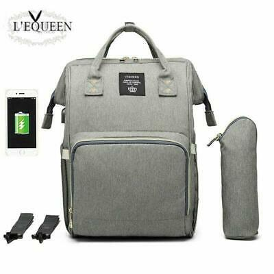 Lequeen  Usb Baby Diaper Bag Mummy Maternity Nappy Bag Mama Travel Backpack Bag