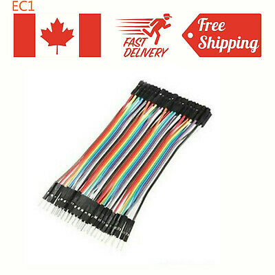 40pcs 10CM Male To Female Jumper Wire Ribbon Cable Arduino pin header