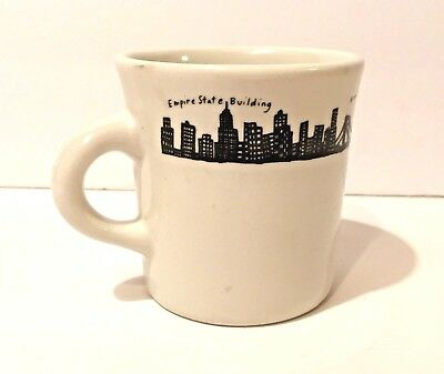 Fishs Eddy Ceramic New York City Skyline Coffee Tea Mug Cup