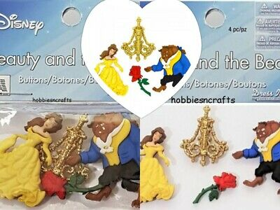 DRESS IT UP BUTTONS ~ DISNEY ~ BELLE /& FRIENDS ~ BEAUTY AND THE BEAST ~