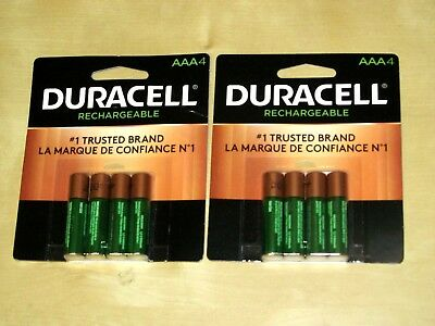 DURACELL AAA RECHARGEABLE BATTERIES ( 8 Pieces, 2 Pack *NEW*)