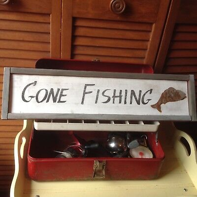 Fishing Lot, Victor Metal Tackle Box, Bass Pro Fish Scale, Okuma, Synergy Reels