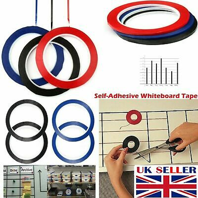 Self Adhesive Whiteboard 3mm Grid Gridding Marking Tape Non Magnetic Fine Tapes