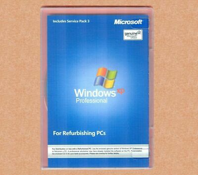 Sealed Microsoft Windows XP Professional SP3 w RFB Disc Pro COA & CD Product Key